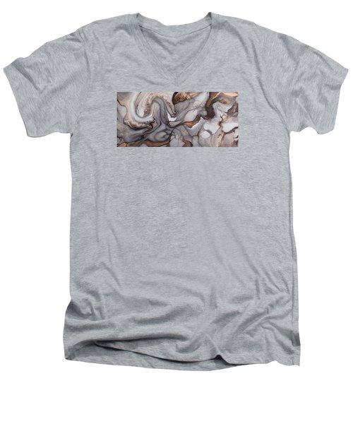 Organico Xxii Men's V-Neck T-Shirt by Angel Ortiz