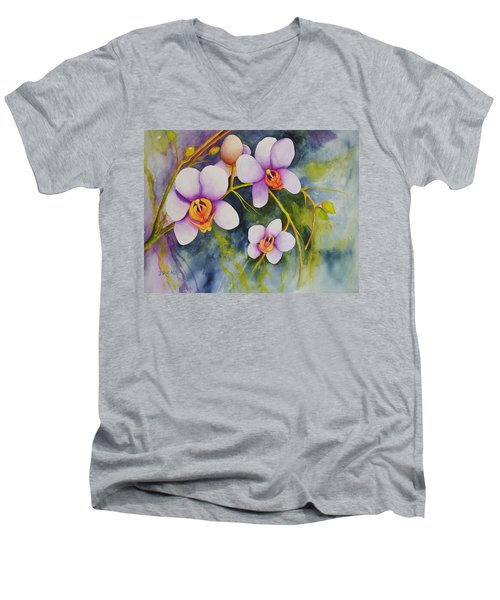 Orchids In My Garden Men's V-Neck T-Shirt