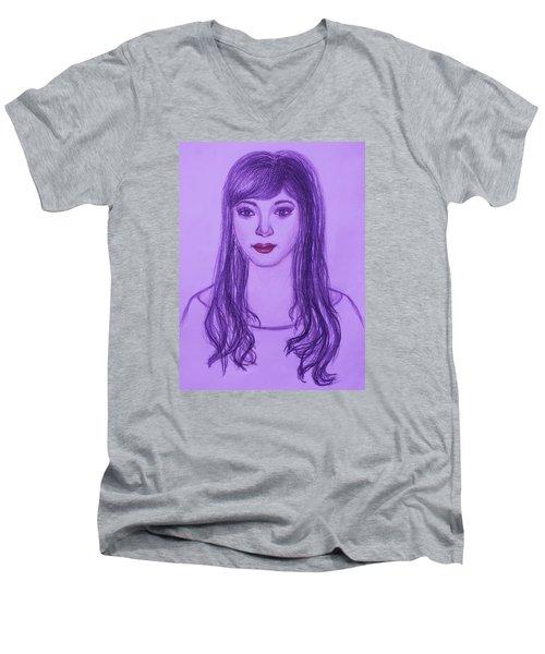 The Oriental Girl   Men's V-Neck T-Shirt