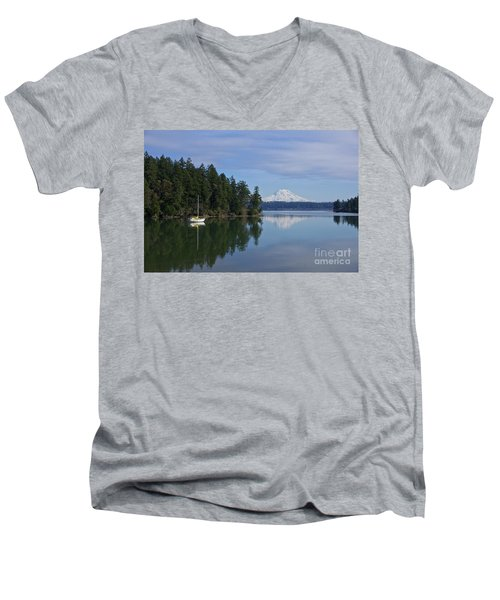 Men's V-Neck T-Shirt featuring the photograph Oro Bay IIi by Sean Griffin
