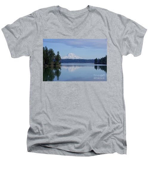 Men's V-Neck T-Shirt featuring the photograph Oro Bay Reflection by Sean Griffin