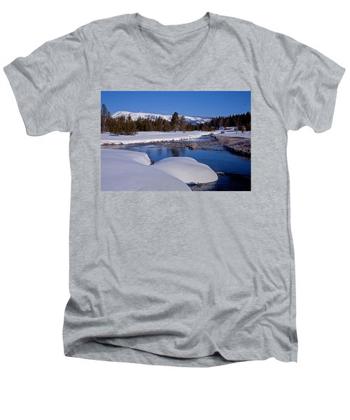 Men's V-Neck T-Shirt featuring the photograph Otter Creek by Jack Bell