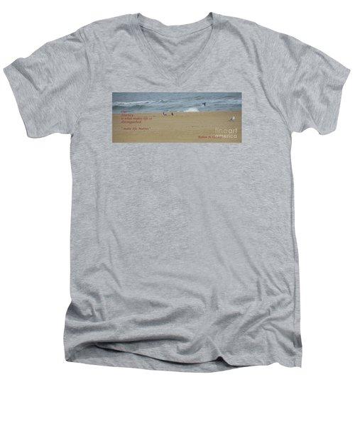Our Journey  Men's V-Neck T-Shirt by Robin Coaker