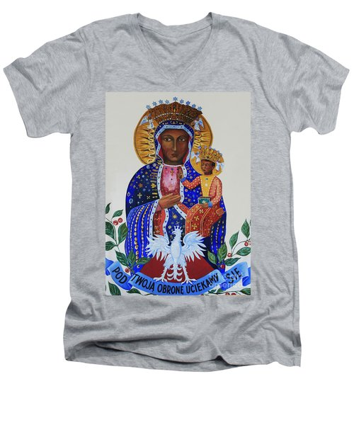 Our Lady Of Czestochowa Men's V-Neck T-Shirt