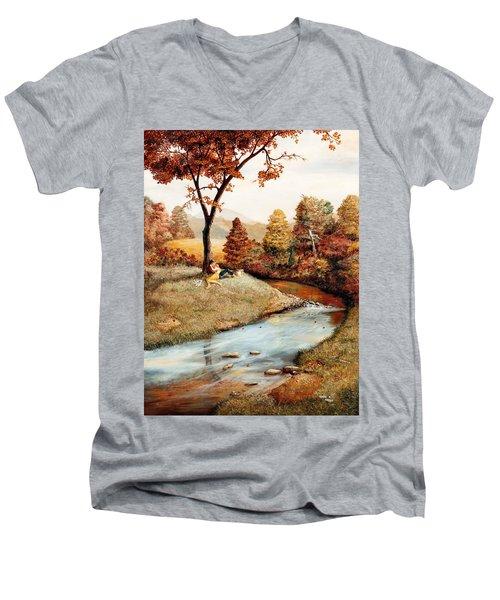 Our Secret Place Men's V-Neck T-Shirt by Duane R Probus