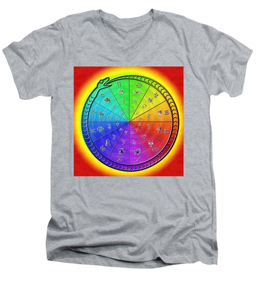 Ouroboros Alchemical Zodiac Men's V-Neck T-Shirt