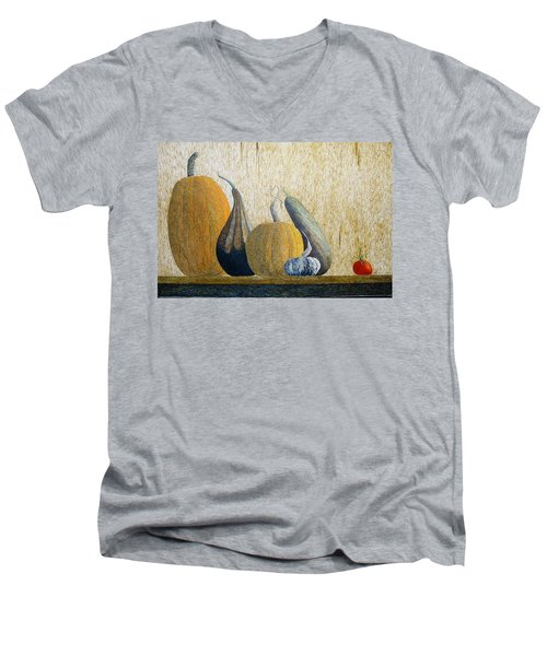 Out Cast Men's V-Neck T-Shirt by A  Robert Malcom