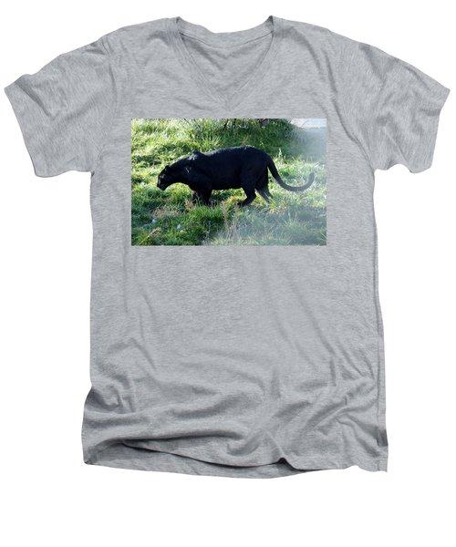 Out Of Africa  Black Panther Men's V-Neck T-Shirt