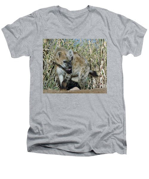 Out Of Africa  Hyena 2 Men's V-Neck T-Shirt