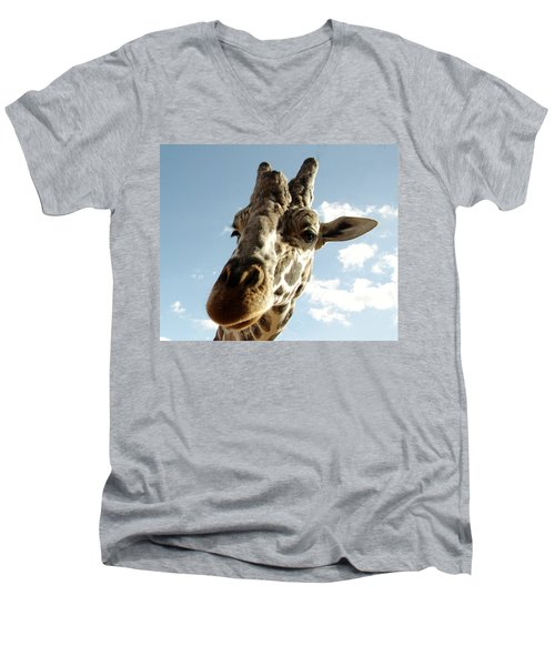 Out Of Africa  Reticulated Giraffe Men's V-Neck T-Shirt