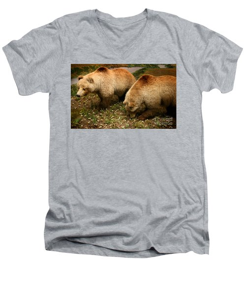 Out Of Hibernation Men's V-Neck T-Shirt