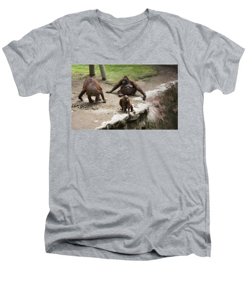 Out Of Reach Men's V-Neck T-Shirt by Lynn Palmer