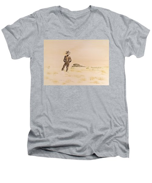 Out There Men's V-Neck T-Shirt by Michele Myers
