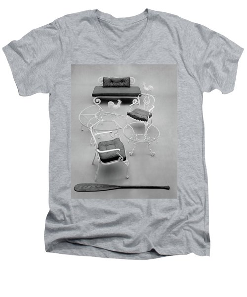 Outdoor Furniture Made Out Of Cast Aluminum Men's V-Neck T-Shirt