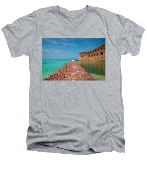 Men's V-Neck T-Shirt featuring the photograph Outer Walk by Kristopher Schoenleber