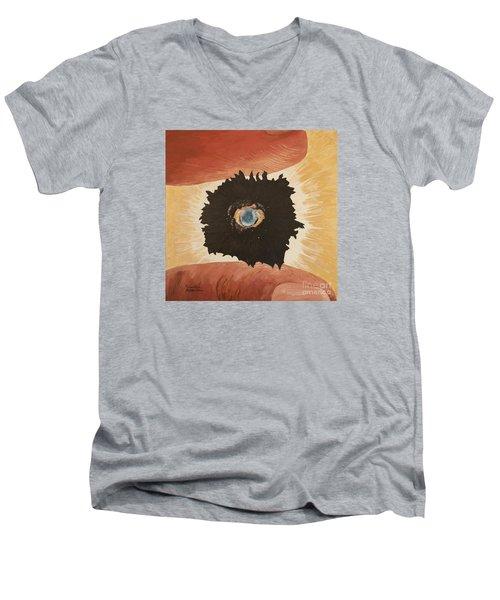 Outside Time Men's V-Neck T-Shirt by Mark Robbins