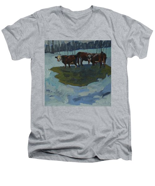 Outstanding In Their Field Men's V-Neck T-Shirt