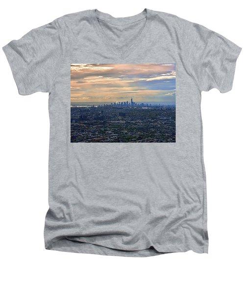Over East New York Men's V-Neck T-Shirt