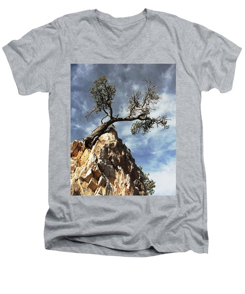 Men's V-Neck T-Shirt featuring the photograph Hung Over by Natalie Ortiz