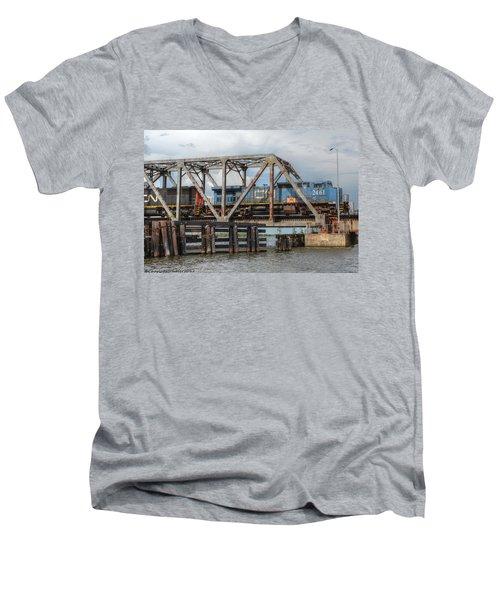 Over Pass Manchac Men's V-Neck T-Shirt