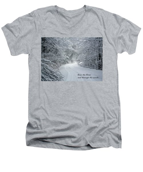 Over The River Men's V-Neck T-Shirt by John Haldane