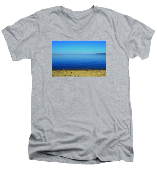 Men's V-Neck T-Shirt featuring the photograph Overflow by Rima Biswas