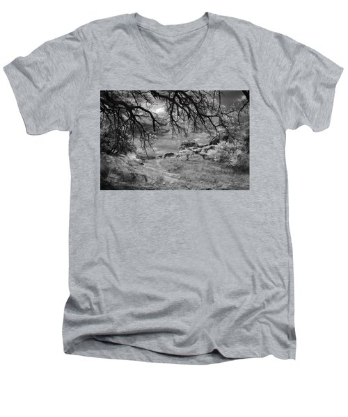 Overhanging Branches Men's V-Neck T-Shirt by Michael McGowan