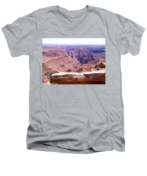 Overlook Into The Layers Of Time Men's V-Neck T-Shirt by Fortunate Findings Shirley Dickerson