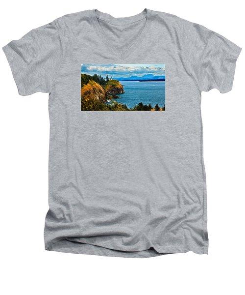 Overlooking Men's V-Neck T-Shirt by Robert Bales