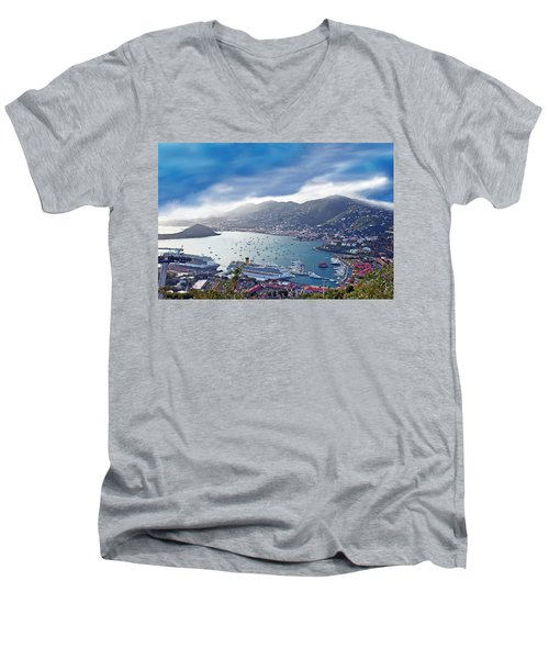 Overlooking The Bay Men's V-Neck T-Shirt by Aimee L Maher Photography and Art Visit ALMGallerydotcom