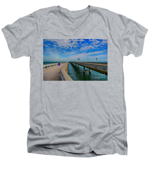 Overseas Highway Florida Keys Men's V-Neck T-Shirt