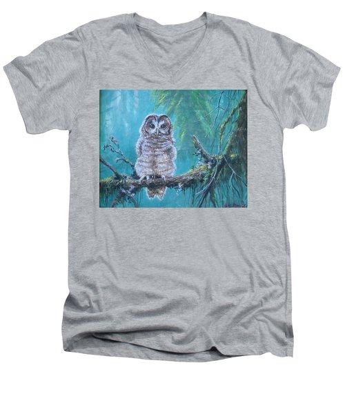 Owl In The Woods Men's V-Neck T-Shirt
