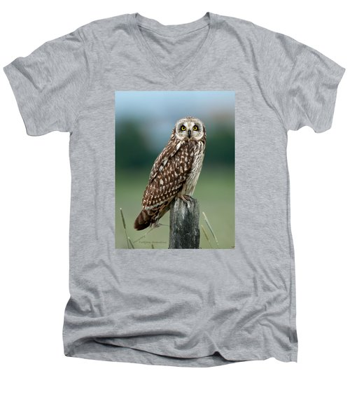 Owl See You Men's V-Neck T-Shirt by Torbjorn Swenelius