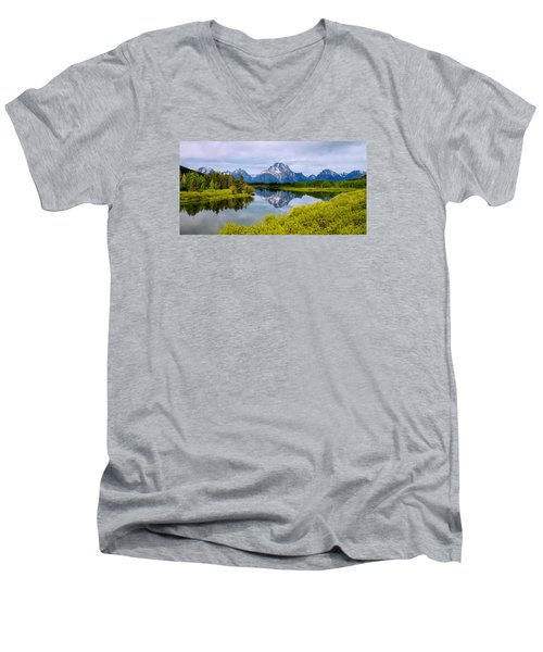 Oxbow Summer Men's V-Neck T-Shirt by Chad Dutson
