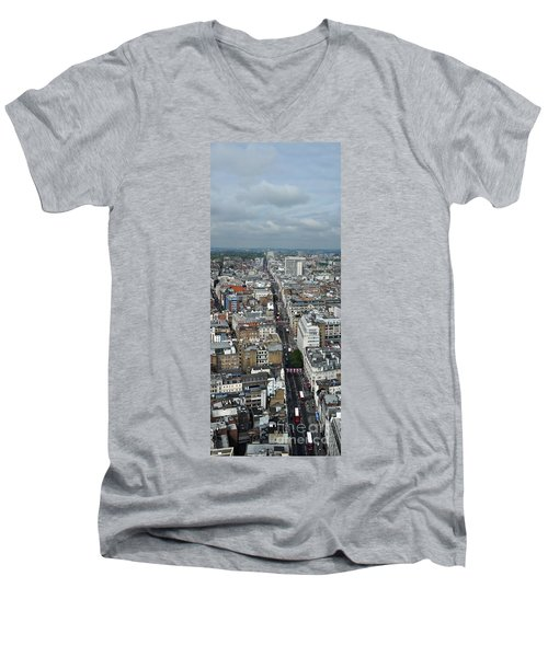Oxford Street Vertical Men's V-Neck T-Shirt