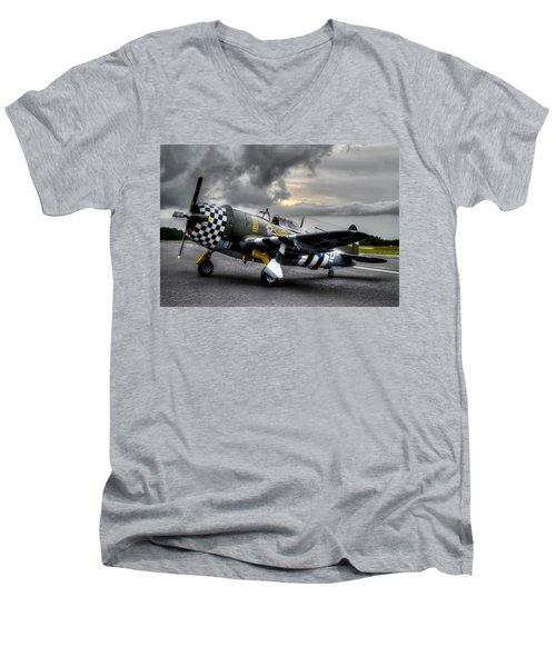 P-47 Sunset Men's V-Neck T-Shirt