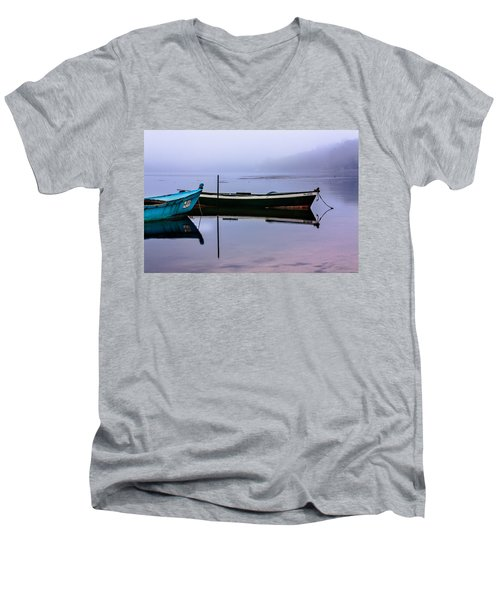 Pacheco Blue Boat Men's V-Neck T-Shirt