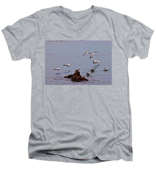 Pacific Landing Men's V-Neck T-Shirt by Melinda Ledsome