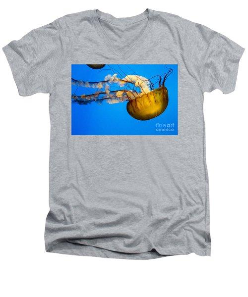Pacific Nettle Jellyfish Men's V-Neck T-Shirt