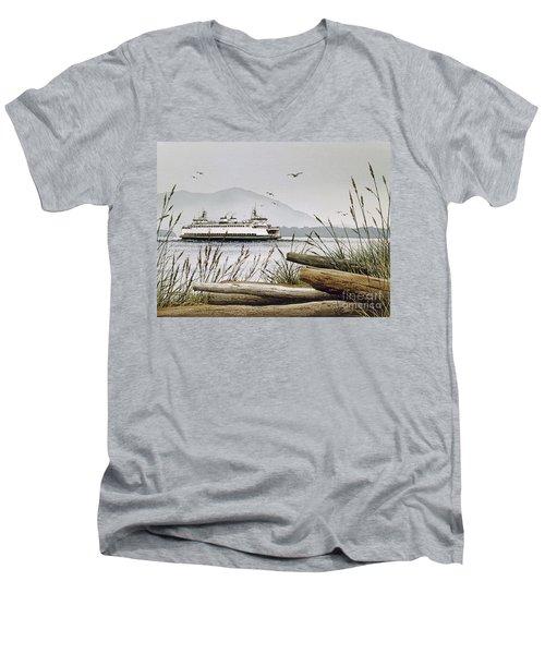 Pacific Northwest Ferry Men's V-Neck T-Shirt