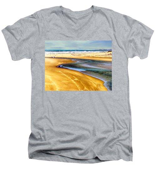 Pacific Ocean Beach Santa Barbara Men's V-Neck T-Shirt
