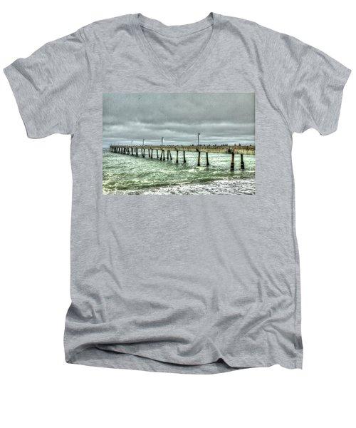 Pacifica Municipal Fishing Pier 7 Men's V-Neck T-Shirt
