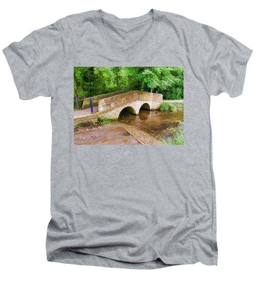 Pack Horse Bridge Men's V-Neck T-Shirt