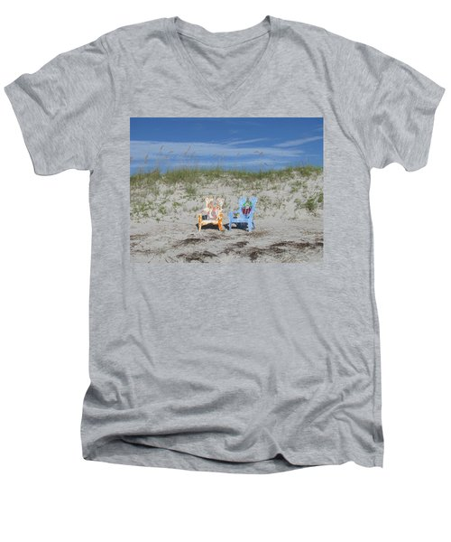 Painted Beach Chairs Men's V-Neck T-Shirt