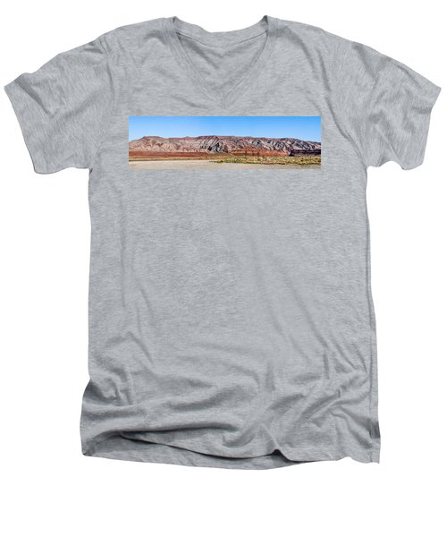 Men's V-Neck T-Shirt featuring the photograph Painted Desert Mountain by Daniel Hebard