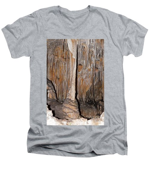 Painted Grotto Carlsbad Caverns National Park Men's V-Neck T-Shirt