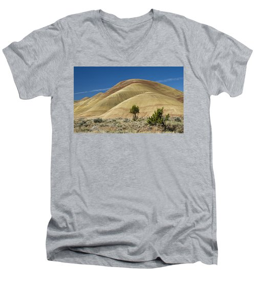 Men's V-Neck T-Shirt featuring the photograph Painted Hills by Sonya Lang