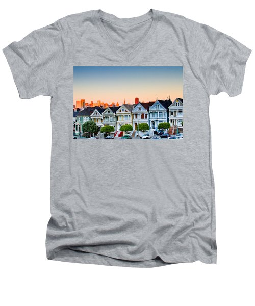 Painted Ladies Men's V-Neck T-Shirt by Bill Gallagher