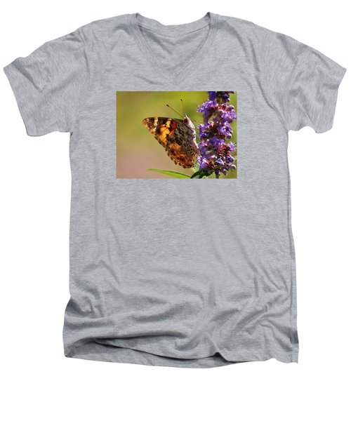 Painted Lady Men's V-Neck T-Shirt