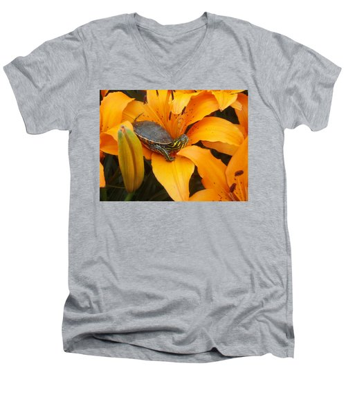 Painted Lilly Men's V-Neck T-Shirt